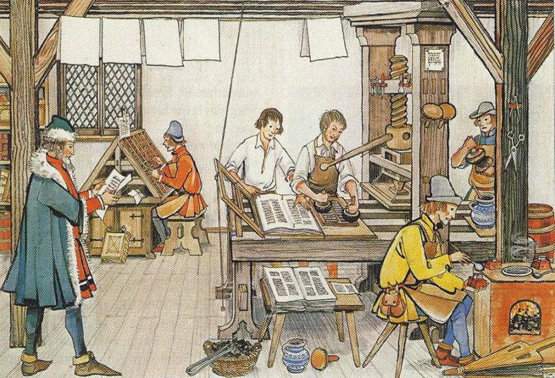 Buchdruckerei, Buchdruck, Druckerei