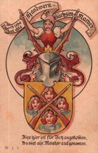 Meister, Büchsenmacher, Handwerk, Wappen