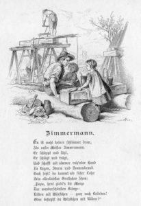 Zimmermann, Kindergedicht, Text