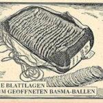 Tabakballen, Basma-Tabak, Tabakblätter