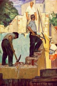 Bauarbeiter, Abrissarbeiten