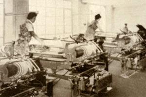 Buchbinderinnen, Buchbinderei, Maschinen