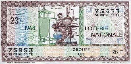 Lotterieschein zum Thema Chemie