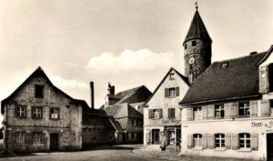 monochrom Foto: Stadt Gunzenhausen mit Färberturm
