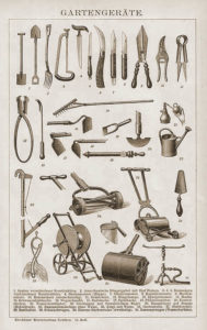 Gartengeräte, Werkzeug, Gärtnerei