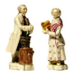 Porzellanfiguren: Apotheker und Gehilfin