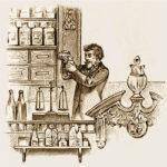 Apotheker misst Medizin ab
