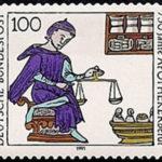 Briefmarke Deutsche Bundespost: 750 Jahre Apothekerberuf