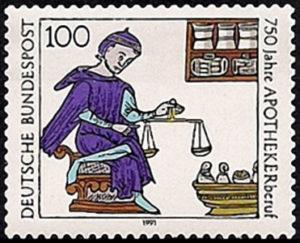 Apotheker, Briefmarke, Jubiläum
