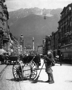 Straßenkehrer, Innsbruck, Österreich