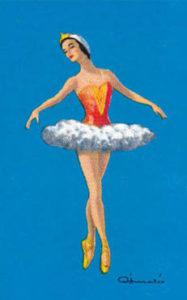 Balletttänzerin im Tutu macht Spitzentanz