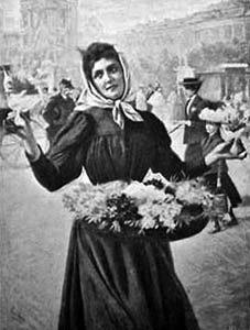 Blumenfrau, Blumenmädchen, Blumenhändlerin