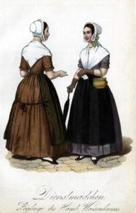 zwei Dienstmädchen plaudern