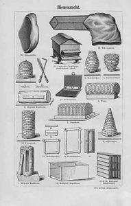 Bienenzucht, Imkerei, Werkzeuge, Bienenkörbe