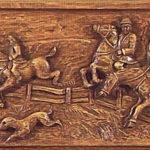 Jagdszene, Fuchsjagd zu Pferde