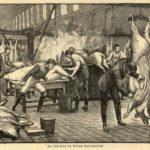 Metzger, Schlachthof, schlachten. Schlachter