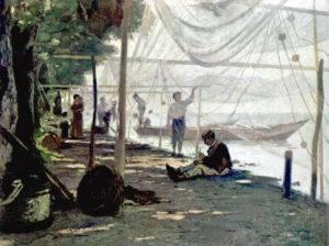 Netzflicker, Fischernetze