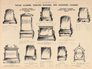 Bad- und Hängespiegel in einem amerikanischen Katalog