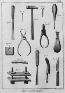 Spiegelproduktion, Werkzeuge, Spiegelmacher
