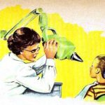 Zahnärztin: Ärztin röntgt Kind