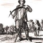 Bauern, Heuernte, Sense