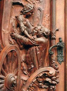 Kutsche, Tür, Schnitzkunst