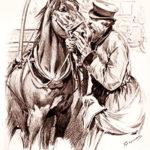 Droschkenkutscher, Pferd