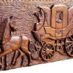 Postkutscher, kutsche, Pferde, Post, Wandrelief