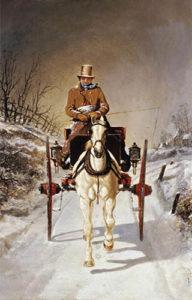 Kutscher, Kutschfahrt, Winter