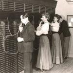 Telefonisten, Telefonvermittlung, Telefon-Schalttafel, USA
