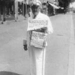 Zeitungsverkäufer, Zeitungshändler, Zeitungen