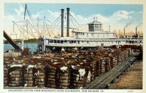Baumwolle wird auf Dampfer verlade, USA