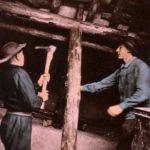 Bergleute, Bergmänner, Untertage, Spitzhacke, Bergbau