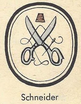 Zeichen für die Schneider
