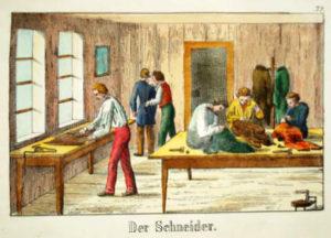 Schneider, Scheiderstube, Schneiderwerkstatt, Handwerk