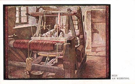 Teppichweber, Webstuhl, Teppich, Weber