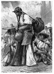 Wasserverkäufer, Mexiko, Straßenhändler