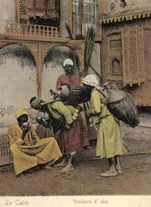 Wasserverkäufer. Ägypten, Kairo, Orient, Händler