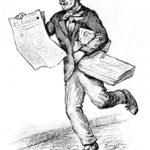 Zeitungsverkäufer, Zeitungshändler, Straßenverkäufer, Zeitung