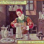 Zinngießer, Zinngefäße, Handwerk, Flandern, Sammelbild