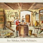Böttcher, Küfer, Fassbinder, Handwerk, Beruf, Arbeit