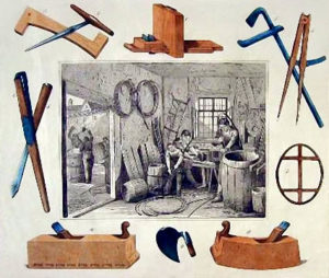 Böttcher, Küfer, Fassbinder, Werkzeuge, Hobel