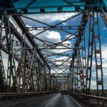 Brücke, Stahlbrücke, Autobrücke, Lettland