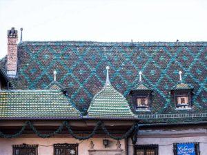 Elsaß, Colmar, Dach, bunte Dachziegel