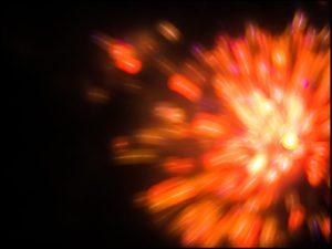 Feuerwerk, Explosion, Splash