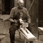 Holzschuhmacher, Holzschuhe, Holzpantinen, Blockmesser