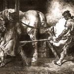 Hufschmied, Pferd, Hufeisen