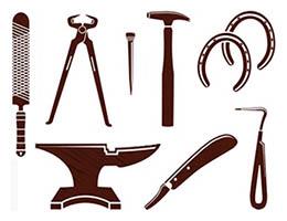 Hufschmiede, Werkzeuge