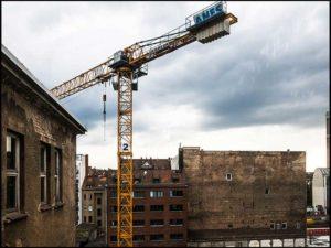 Kran, Baukran, Berlin, Häuser