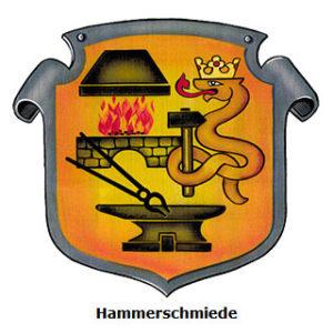 Schmiede, Hammerschmied, Berufswappenschild
